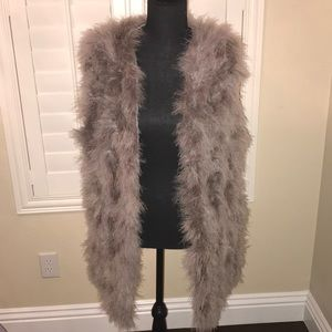 Jackets & Blazers - Only 2 left! SALE Gorgeous  gray feather vest